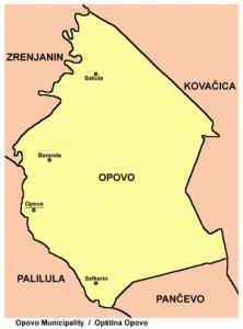opovo mapa