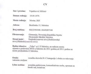 Milimir Vujadinovic CV