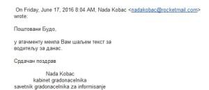 Nada Kobac mejl