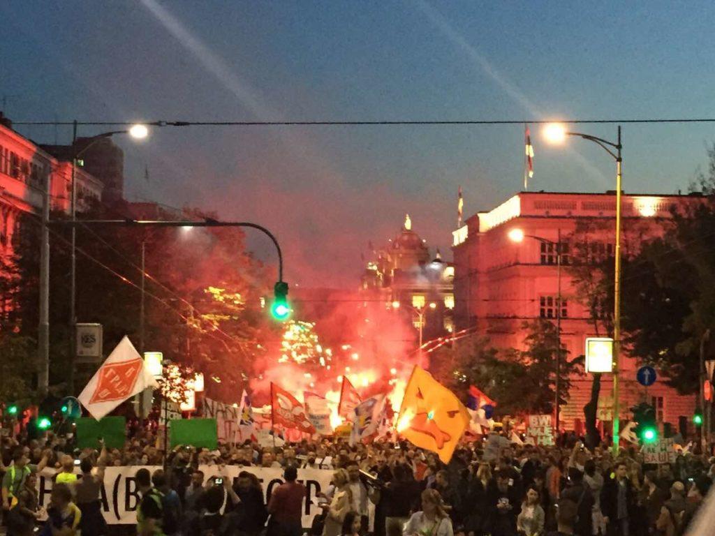 Protest Beograd foto Autonomija Natasa Govedarica