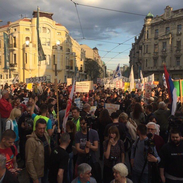 Protest Ne davimo Beograd godisnjica Savamale