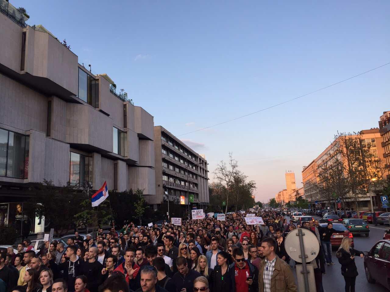 Protest Novi Sad sesti dan foto Maja Ledjenac2