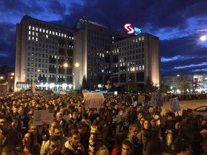 protest, diktatura, novi sad