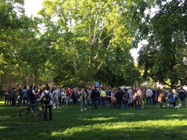 Protest mali park Futoska ulica Novi Sad foto Maja Ledjenac