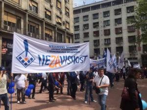 prvi maj, protest, sindikati, foto Autonomija (Maja Ledjenac)