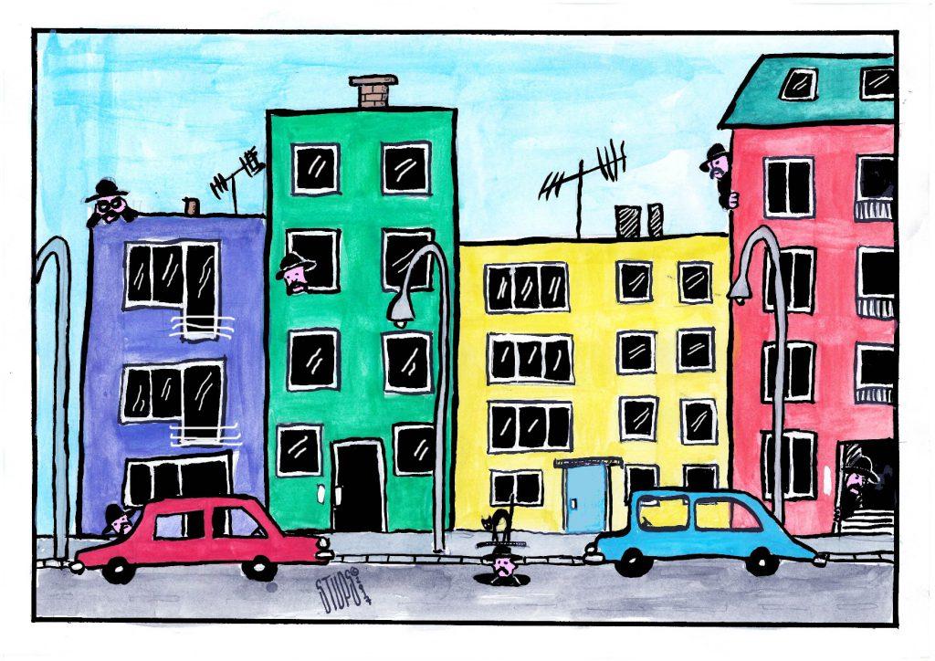 Upravnici zgrada Stups karikatura